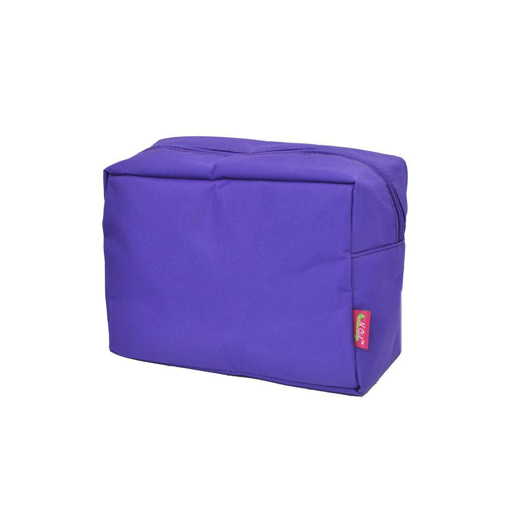 Solid Color Purple NGIL Large Cosmetic Travel Pouch
