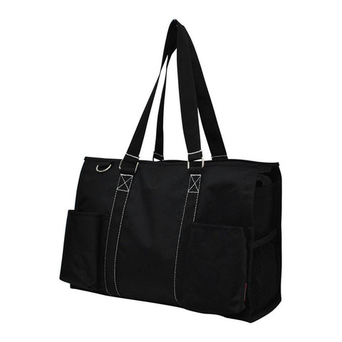Solid Color Black NGIL Zippered Caddy Organizer Tote Bag
