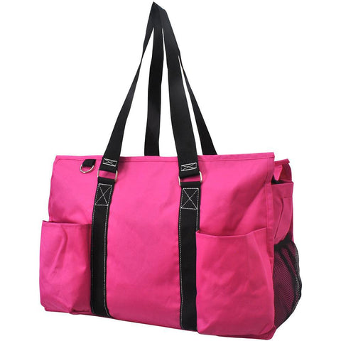 Solid Color Hot Pink NGIL Zippered Caddy Organizer Tote Bag