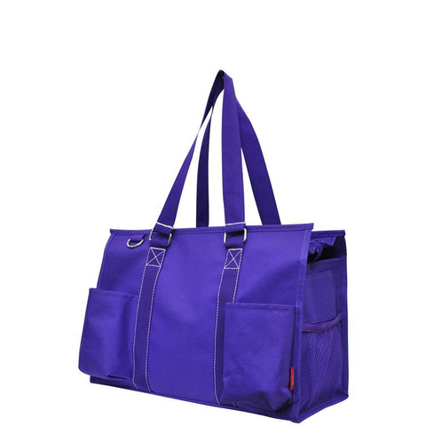 Solid Color Purple NGIL Zippered Caddy Organizer Tote Bag