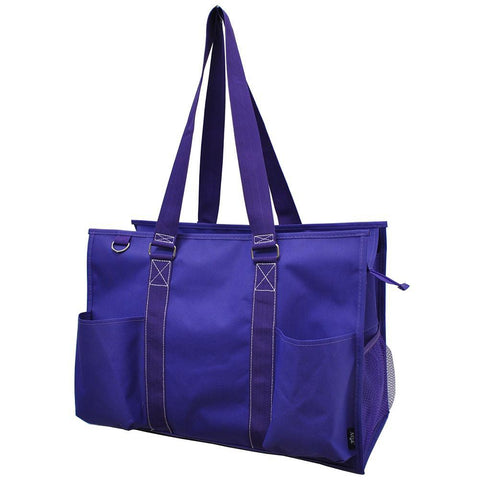 Solid Purple NGIL Zippered Caddy Large Organizer Tote Bag