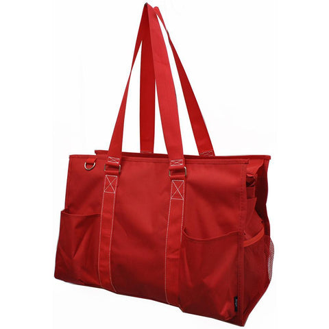 Solid Red NGIL Zippered Caddy Large Organizer Tote Bag