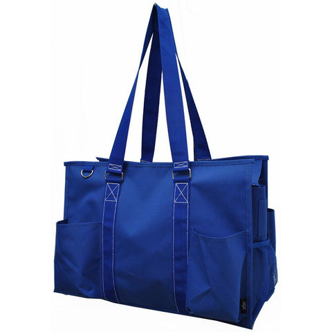 Solid Royal Blue NGIL Zippered Caddy Large Organizer Tote Bag