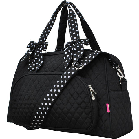Black and White NGIL Solid Duffel Weekender Tote Bag