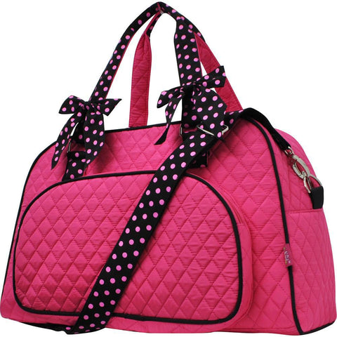 Hot Pink and Black NGIL Solid Duffel Weekender Tote Bag