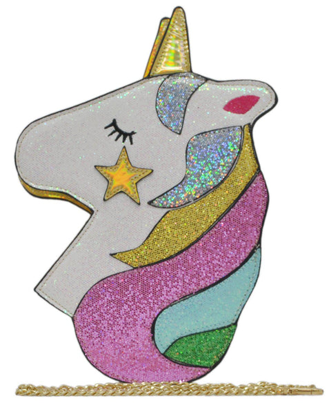 Unicorn NGIL Glitter Crossbody Purse