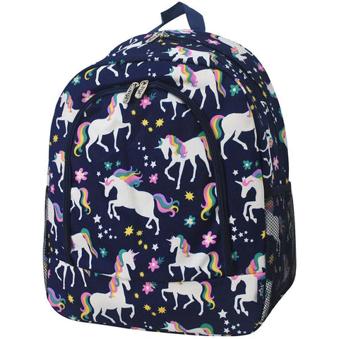 Unicorn Print NGIL Canvas School Backpack