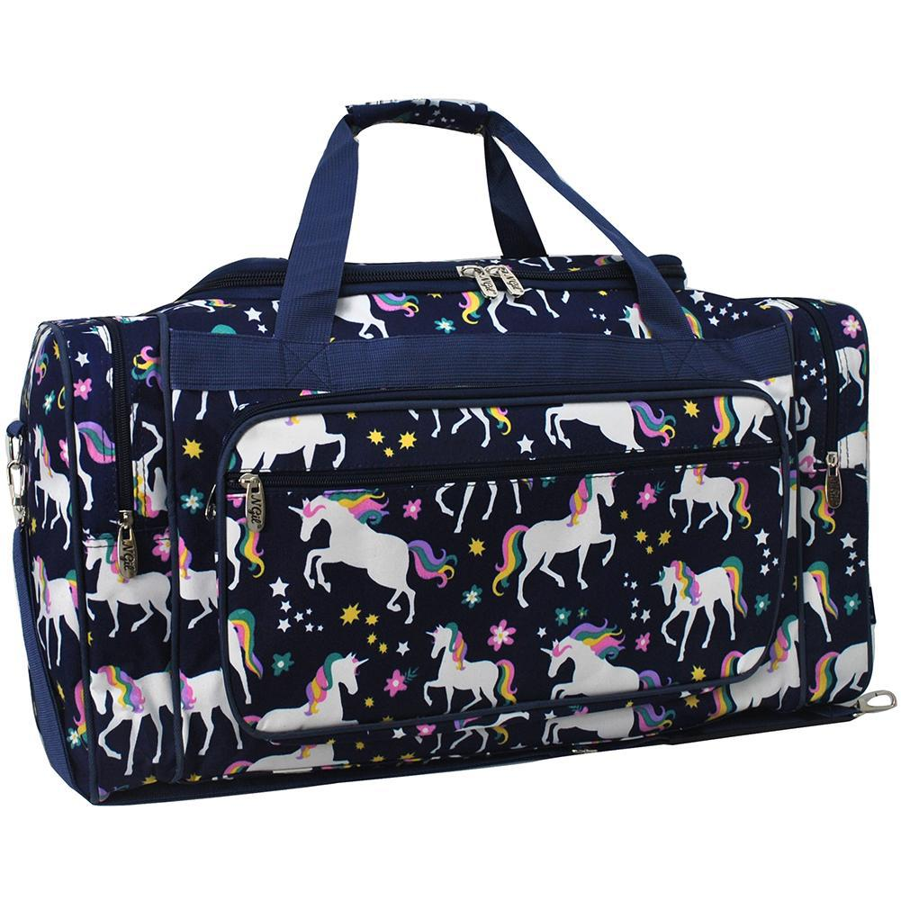 Narwhal Unicorn Travel Duffel Bag Casual Large Capacity Portable Luggage Bag Suitcase Storage Bag Luggage Packing Tote Bag Weekend Trip