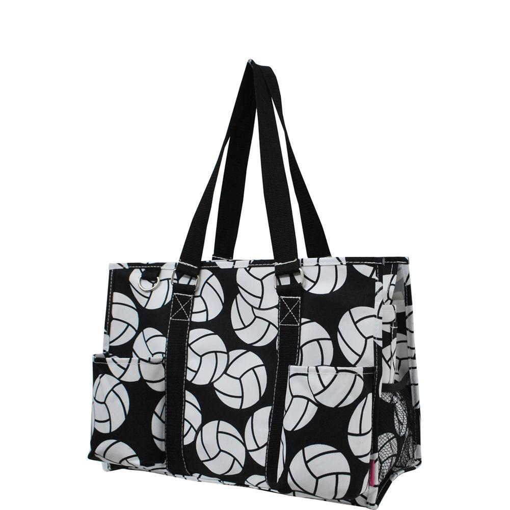 Overnight bag, monogram gifts for her, monogram tote bag for coaches, personalized accessories bag, gifts for coach wholesale, personalized tote for women, volleyball tote bag women, personalized gifts for her, NGIL Brand, best coach gift bag, volleyball coach gifts end of year, volleyball print, volleyball bag, girl volleyball bag.