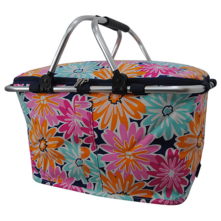 Flower Power NGIL Insulated Market Basket
