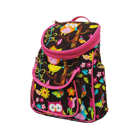 Owl Town Brown Chevron NGIL Quilted Mini Backpack