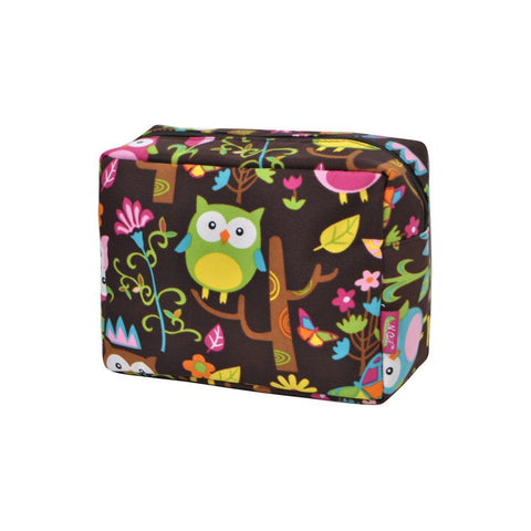 Owl Town Brown NGIL Large Cosmetic Travel Pouch