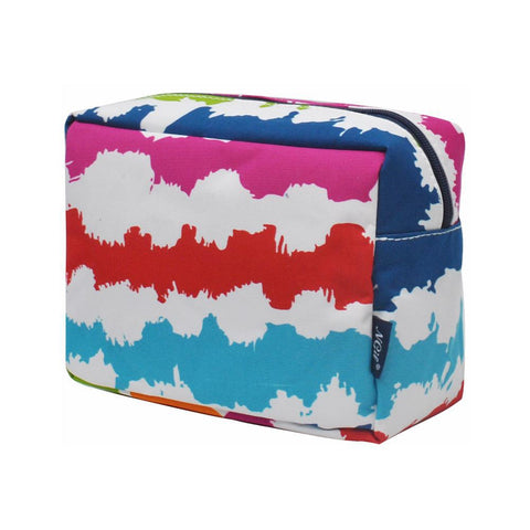 Cosmetic bags for travel, women's makeup bag set, makeup pouch for cheap, makeup gift idea, large monogram cosmetic bag, cosmetic organizer case, travel bags makeup artist, rainbow waves makeup bag