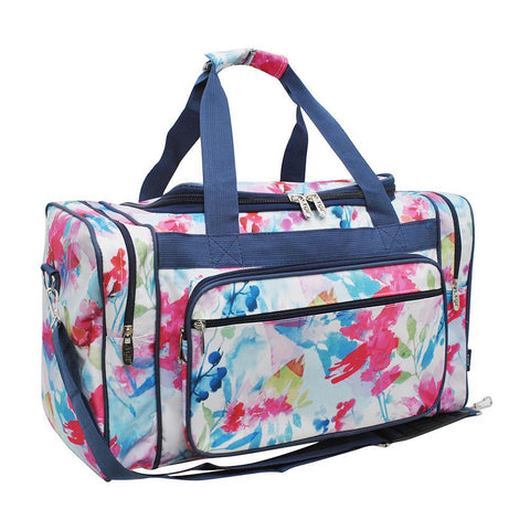 "Summer Water Color NGIL Canvas 20"" Duffle Bag"