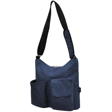 Crosshatch Blue NGIL Crossbody Travel Bag
