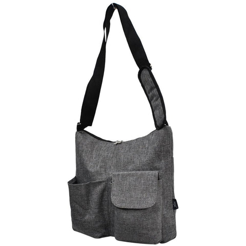 Crosshatch Gray NGIL Crossbody Travel Bag