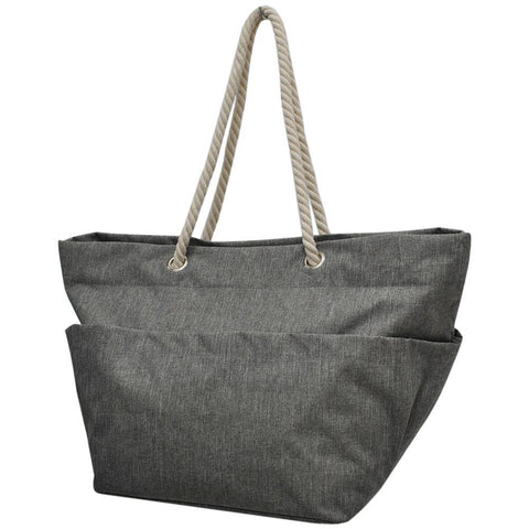 Crosshatch Gray NGIL Rope Handle XL Beach/Tote Bag