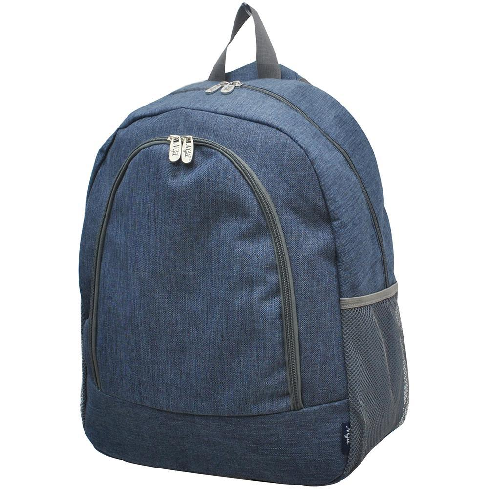 Crosshatch Blue NGIL Canvas School Backpack