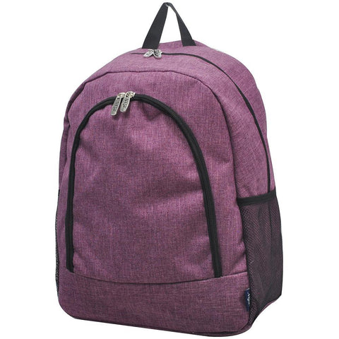Crosshatch Cherry NGIL Canvas School Backpack