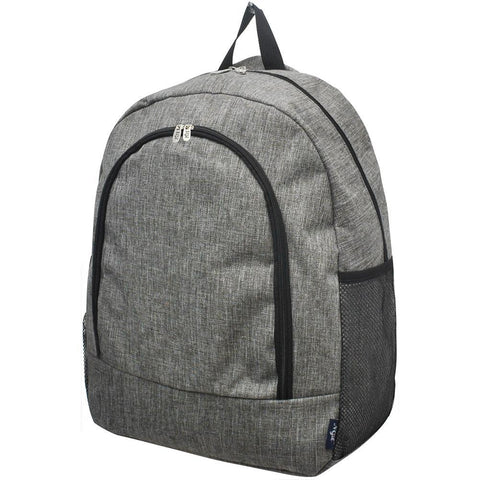 Crosshatch Gray NGIL Canvas School Backpack