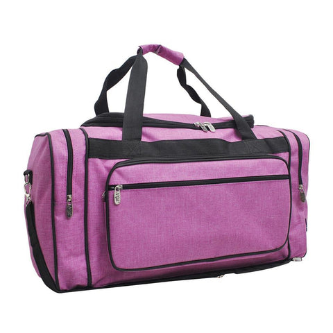 "Crosshatch Fuscia NGIL Canvas 20"" Duffle Bag"