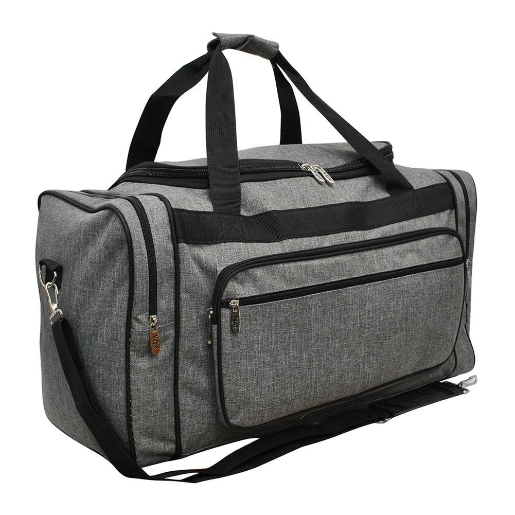 "Crosshatch Gray NGIL Canvas 20"" Duffle Bag"