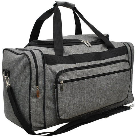 Crosshatch Gray NGIL Canvas 20''Duffle Bag