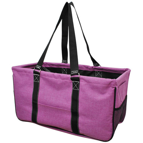 Crosshatch Fuscia NGIL Large Collapsible Utility Bag Storage Tote
