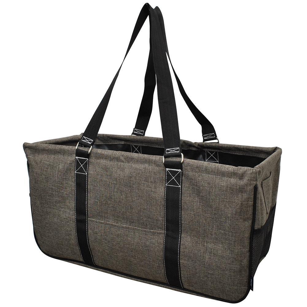 Crosshatch Khaki NGIL Large Collapsible Utility Bag Storage Tote