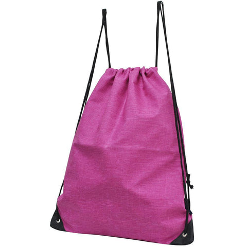Crosshatch Fuscia NGIL Canvas Drawstring Backpack