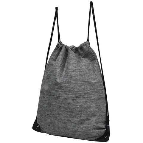 Crosshatch Gray NGIL Canvas Drawstring Backpack