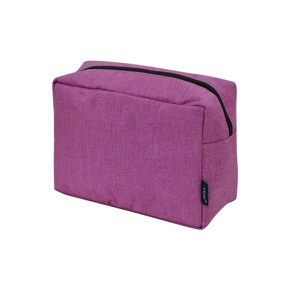 Crosshatch Fusia NGIL Large Cosmetic Travel Pouch