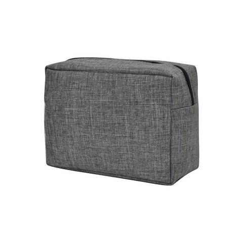Crosshatch Gray NGIL Large Cosmetic Travel Pouch