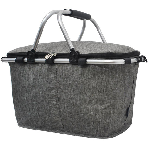 Crosshatch Gray NGIL Insulated Market Basket