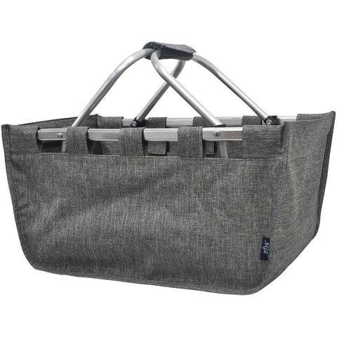 Crosshatch Gray NGIL Canvas, Shopping, Market, Picnic Basket