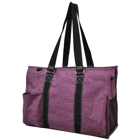 Crosshatch Cherry NGIL Zippered Caddy Large Organizer Tote Bag