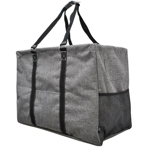 Crosshatch Gray NGIL Mega Shopping Utility Tote Bag