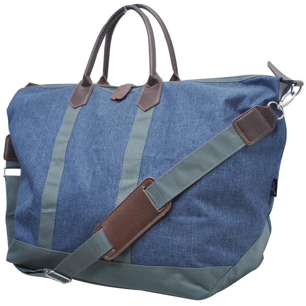 Crosshatch Blue NGIL Large Weekender Bag