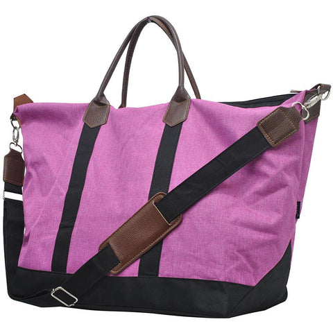 Crosshatch Fuscia NGIL Large Weekender Bag