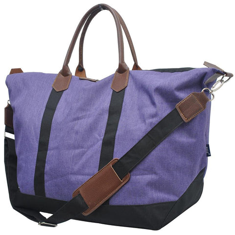 Crosshatch Purple NGIL Large Weekender Bag