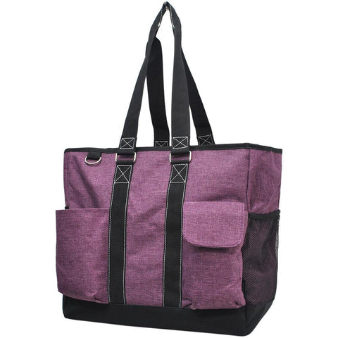 Crosshatch Cherry NGIL Tall Canvas Tote Bag