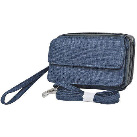 Crosshatch Blue NGIL All In One Wallet
