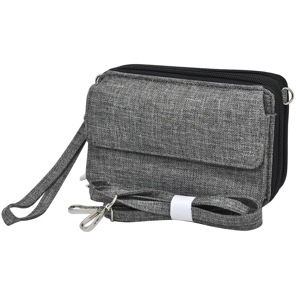 Crosshatch Gray NGIL All In One Wallet