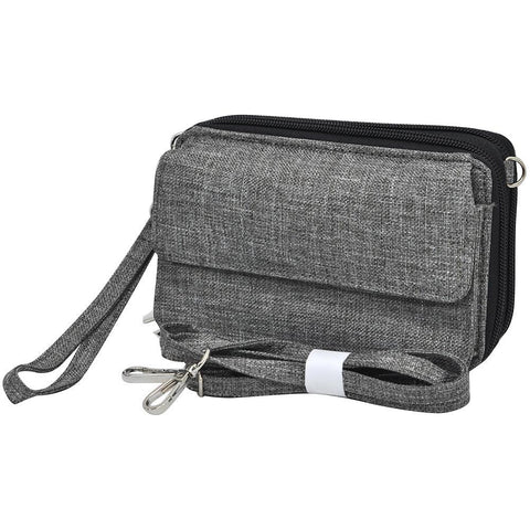 Crosshatch Gray NGIL Quilted All In One Wallet