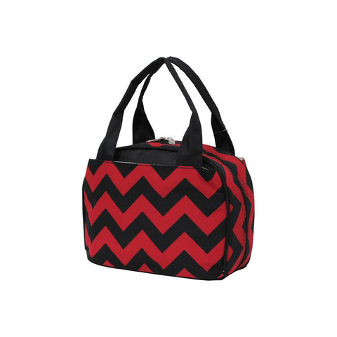 Color Chevron Red/Black NGIL Insulated Lunch Bag