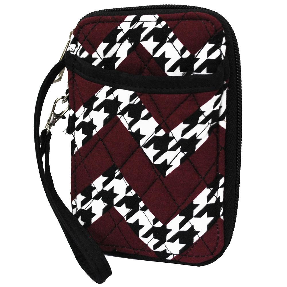Houndstooth Chevron NGIL Quilted Wristlet Wallet