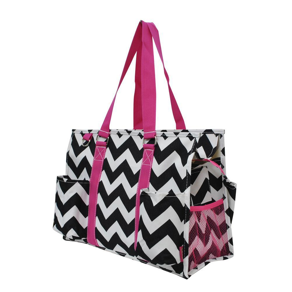 NGIL Brand, Personalized Travel Bag, monogram gift ideas, personalized accessories for mom, nurse tote organizer wholesale, gifts for mom, chevron bag, stripes tote, black and white tote.