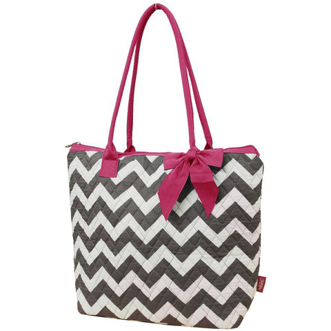 Gray Chevron NGIL Quilted Tote Bag