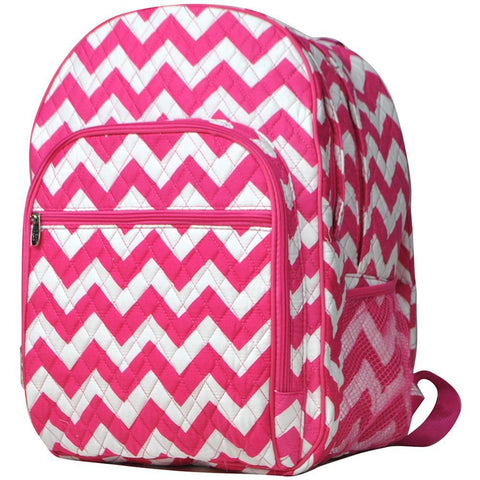 Hot Pink Chevron NGIL Quilted Large School Backpack