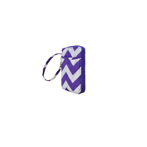 Purple Chevron Print NGIL Quilted Wristlet Wallet